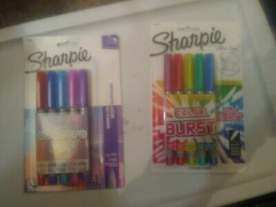 Sharpie Ultra Fine Lot Of 2 Electro Pop Color Burst Permanent Markers...