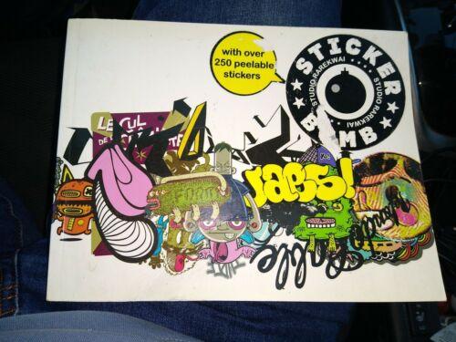 Stickerbomb Studio Rarekwai 2008 Paperback Book SRK 250 Pealable Stickers Crease - $12.00