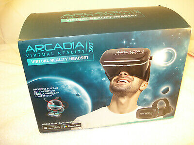 Virtual Reality Headset Arcadia 360 Smartphone VR Android Apple SEALED IN BOX