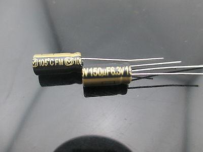 4pcs Japan Panasonic Fm 150uf 6.3v 150mfd Impedance Electrolytic Capacitors