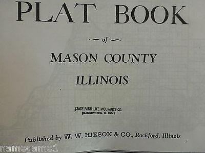 GENEALOGY ILLINOIS PLAT MAP MASON COUNTY pre-1940