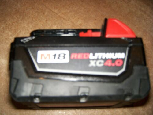 1 Genuine Milwaukee M18 48-11-1840 Red Lithium XC 4.0 Extended Capacity Battery