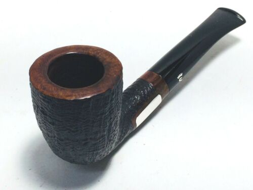 RARE STANWELL BENT DUBLIN W/ STERLING SHANK & STEM STERLING INLAYS ESTATE PIPE