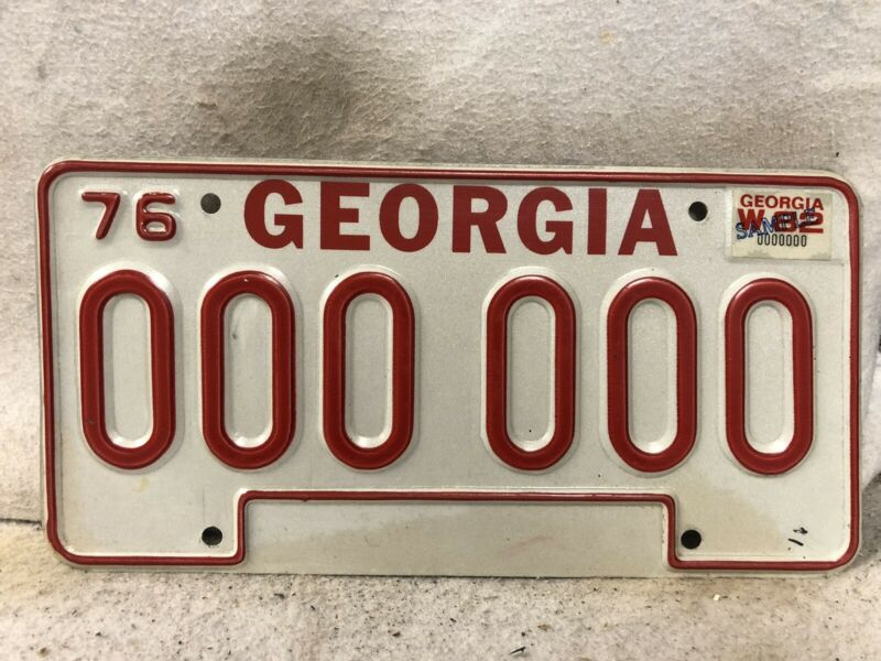 1976 Georgia SAMPLE License Plate