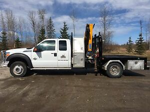 2013 Ford F550 Super duty with picker for sale