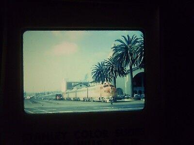 Com Slide Train Rr Atsf California San Diego 18 Station Depot Yard Jct Passenger
