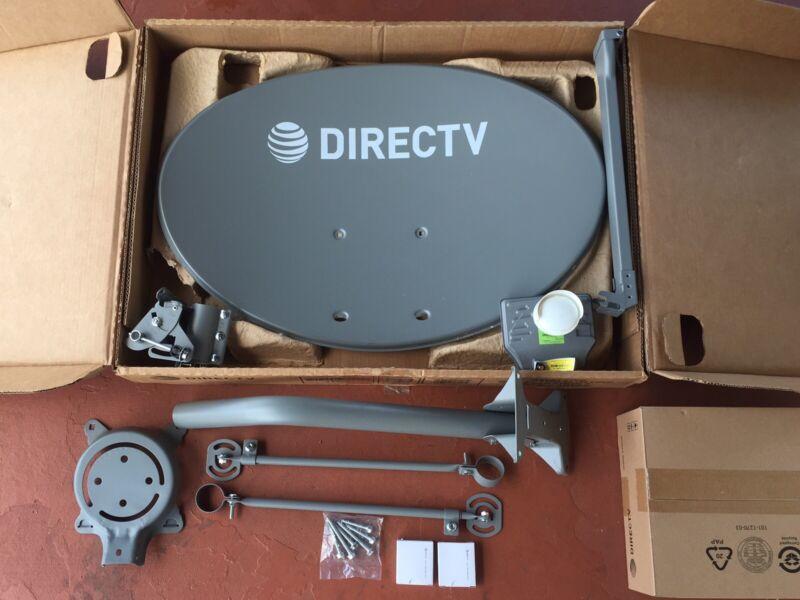 Directv /complete At&t Hd Dish / Hd / 4k / Uhd / 3d2 Lnb / Swm / 2/2 Way / New!
