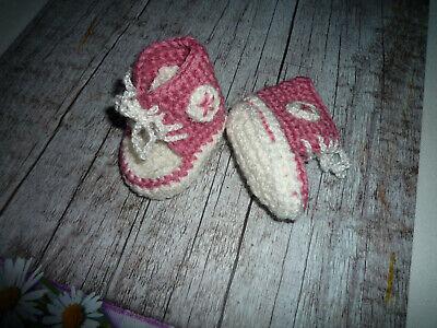 Puppenschuhe für Baby born und Puppen bis 50 cm >Handarbeit < gehäkelt