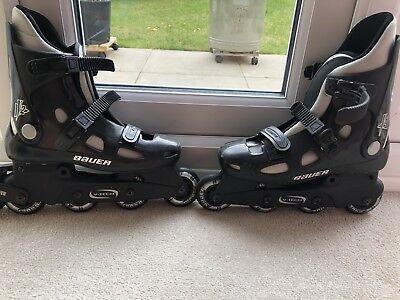Bauer Black Inline Skates/Rollerblades UK Size 7