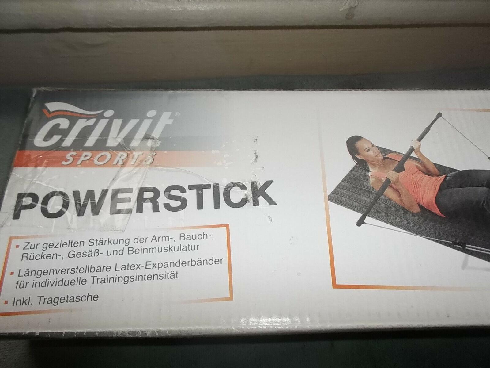 CRIVIT Powerstick Fitnesstrainer Armtrainer Potrainer Rückentrainer inkl.DVD