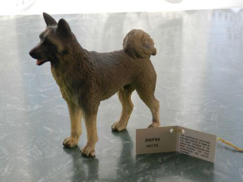 VTG AKITA DOG SCULPTURE FIGURINE CANINE KINGDOM W/ GOLD TAG