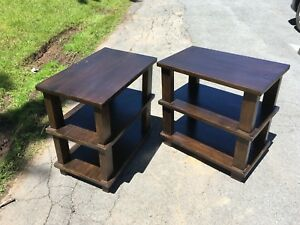 2 solid wood end-tables