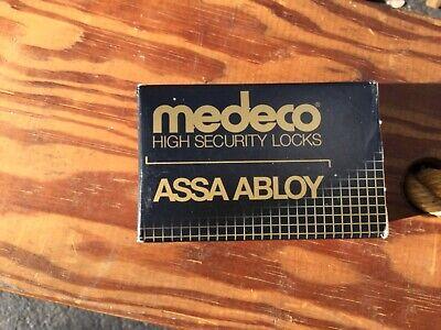 Medeco High Security Locks Assa Abloy Locking Cylinder Bright Brass.