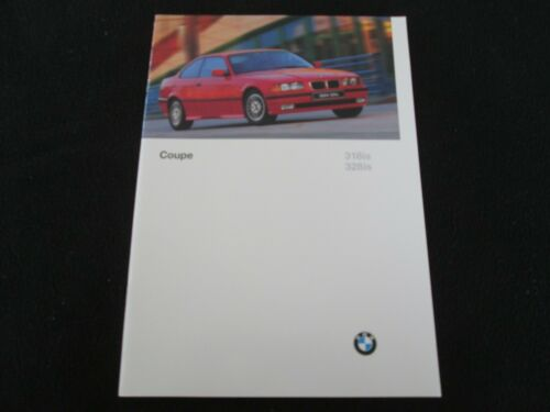 1997 BMW 3 Series Coupe Brochure E36 318is 328is US Sales Catalogue 318 328