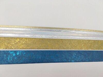 Gold Glitter Tape (Silver Gold Foiled Crackle Glitter Metalic Star Thin Washi Tape Skinny Aluminum)