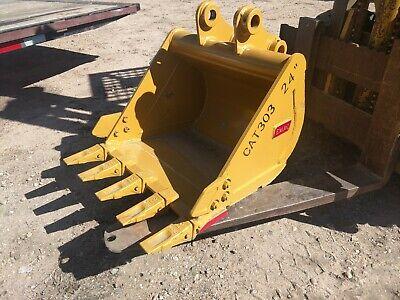 New Caterpillar 303 Mini Excavator 24 Digging Bucket Emaq Teran 24 Inch Cat