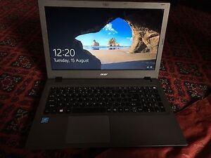Acer E5 touchscreen laptop. Mint. Dual core. Windows 10, $230