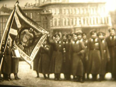 "Vintage 16mm Soviete documentary ""Bolsheviks in february 1917"" film B/W movie"