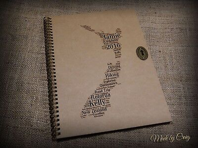 Personalised New Zealand Scrapbook/Photo Album/World Travel Journal, Gift Idea