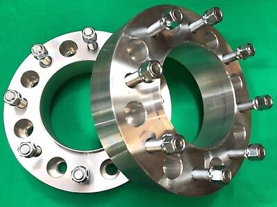 "2"" WHEEL SPACERS 2011 - 2018 CHEVY GMC DUALLY 8X210 Hub centric 14mm x 1.5 studs"