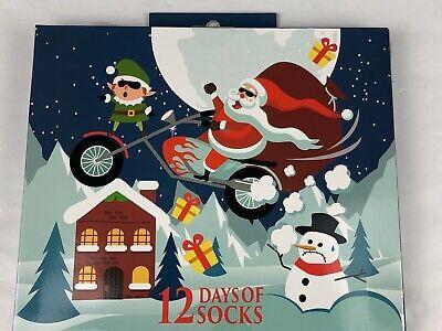 Men's 12 Days of Socks Christmas Advent Calendar New