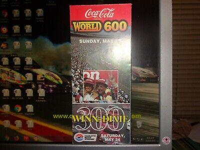 1986 NASCAR Charlotte Coca-Cola 600 Ticket Brochure