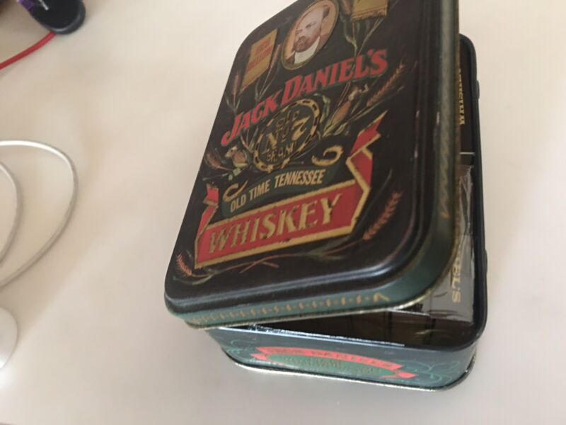 Vintage Jack Daniels Matches Old No 7 Whiskey Tin Hinged Embossed Box