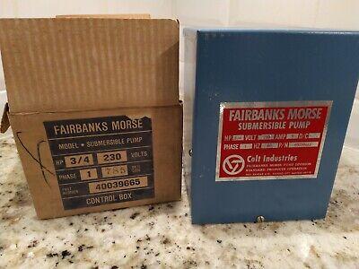 34 Hp 230v Fairbanks Morse Control Box Submersible Water Pump 40039665 A7