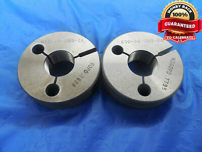 .800 40 Uns 2a Thread Ring Gages .8 .80 Go No Go P.d.s .7828 .7795 Ns-2a