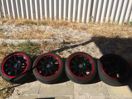 """18"""" rims and tyres"""