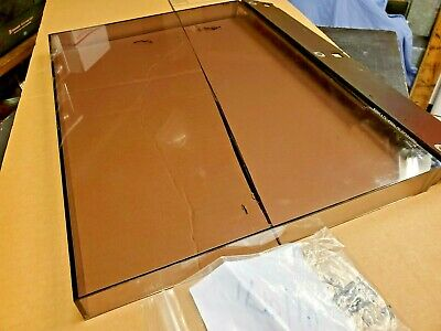 Bang & Olufsen RX 5773 Record Deck Turntable Lid Dust Cover w/Mounts Good Shape