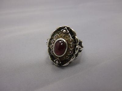 schöner Bartel & Sohn Granat Ring aus Silber 925 punziert
