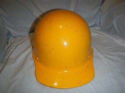 Vintage Msa Skullgard Hard Hat 1959 Sticker Inside Original Yellow