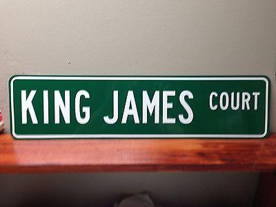 "Lebron James street sign Aluminum 6"" x 24"""