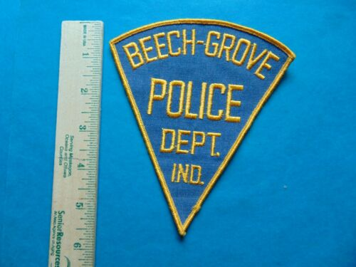 "VINTAGE BEECH-GROVE INDIANA POLICE 6"" SHOULDER PATCH - NEW FROM THE 1980"