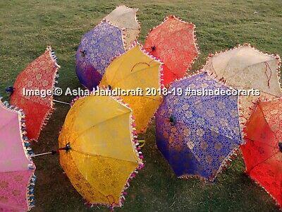 Decorativo Indio Mano Bordado Parasol Boda Vintage Parasol Paraguas