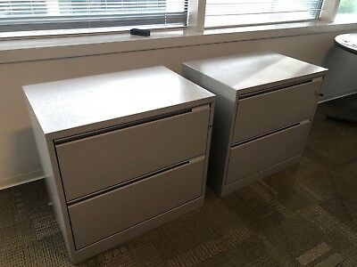 2 Drawer Lateral Size File Cabinet By Herman Miller Meridian Wlockkey 30w