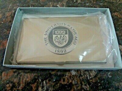 Brand New University Of Chicago Aluminum Steel Metal Business Card Holder Case