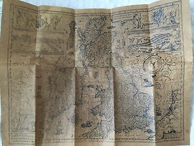 Vintage Reproduction Parchment Map - Great Britain And Ireland 1610