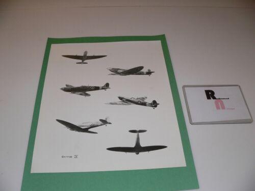 Vintage GLOSSY 8 x 10 SPITFIRE IX Black & White Aviation collectible RARE!!!!