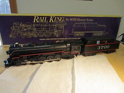 - ' 0' Gauge Rail King Santa FE Mohawk Steam Engine. Nice. W/ Proto-Sound.