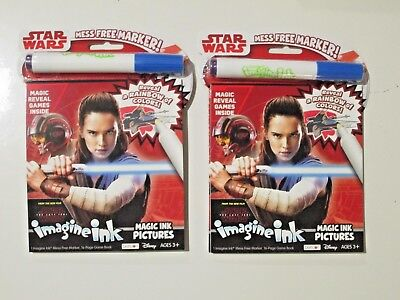 New  2 X Disney Imagine Ink Magic Pictures Activity Book   Star Wars