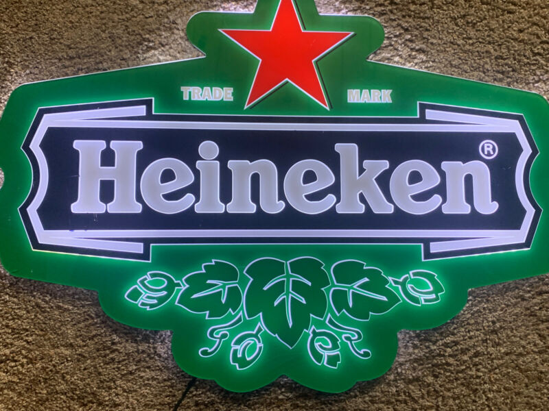 W@W Heineken Beer LED Sign Bar Pub Man Cave Drink Miller Summer Fun Can Bottle