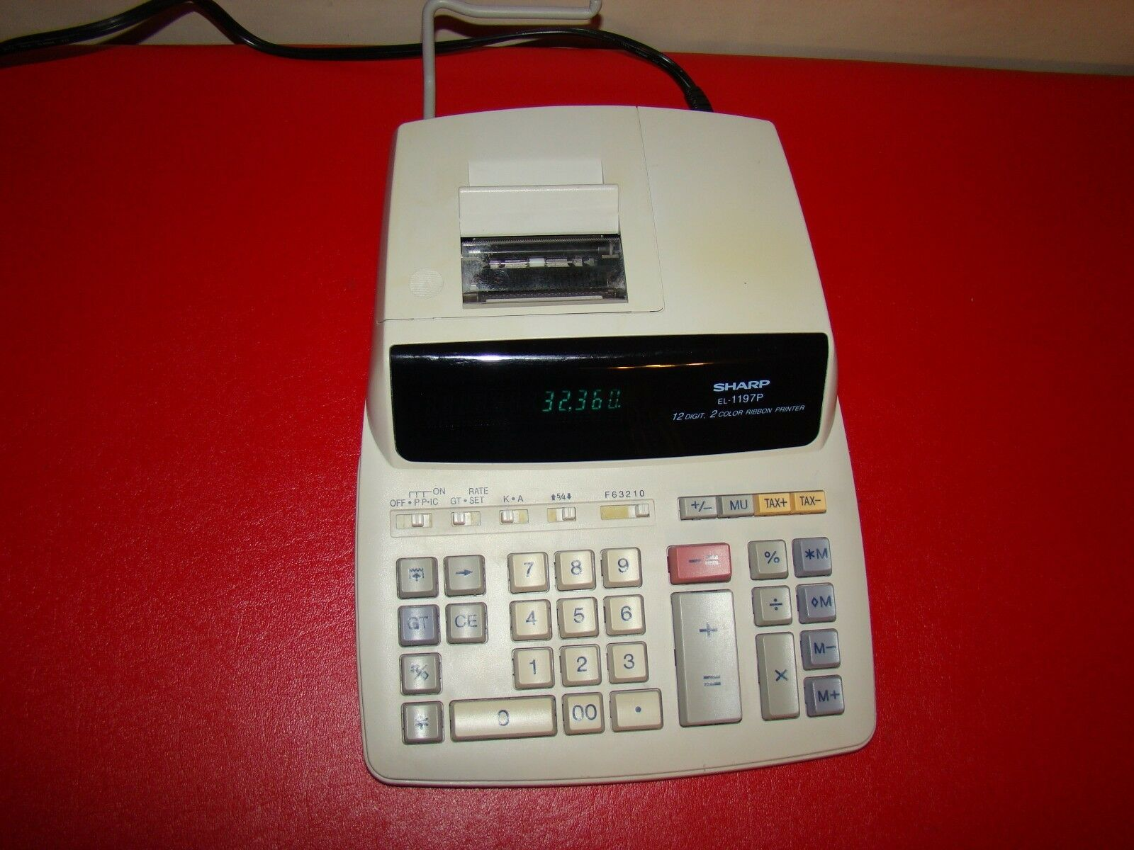 Sharp EL-1197P Electronic Printing Calculator Tax 12 Digit No papers