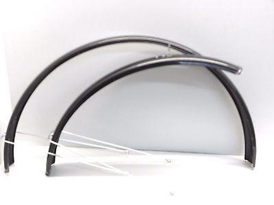 Schwarz Lackiert (Schutzbleche Garnitur 28 Zoll Schwarz,Lackiert 55mm mit Streben+Schrauben  25107)