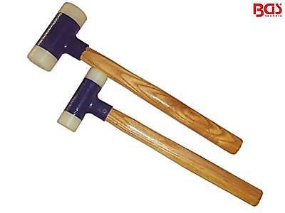 BGS 1859 2-tl Satz Schonhammer Kunststoff mit Hickorystiel 30 45mm Ausbeulhammer