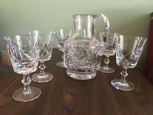 Hungarian Crystal Wine Service