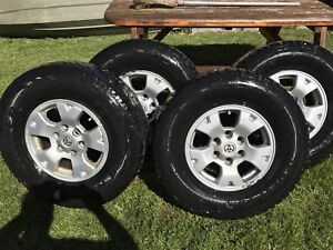 Toyota alloy wheels and tires