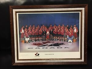 Vintage Team Canada 1996 Olympic Hockey Team Picture with Frame