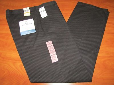 NEW DOCKERS MENS THE BEST PRESSED SLIM FIT BLACK PINSTRIPE PANTS MULTIPLE